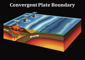 <p>Fig. 6. Convergent plate movement.</p>