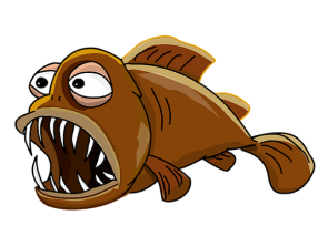 <p>Fig. 1. What might this fish eat with these large teeth?</p>