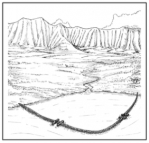 <p>Fig. 1. Students learn about fishponds by building their own model.</p>