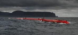 <p>Fig. 4.&nbsp;A large-scale model of a wave power converter off the coast of Scotland.</p><br />