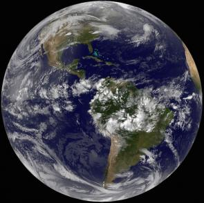 <p>Fig. 1.&nbsp;OLP 1. The ocean on Earth from space.</p>