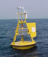 <p>Fig. 3. This buoy bobs in the water outside of Honolulu, Hawaiʻi, collecting data on the weather and sea conditions.</p>