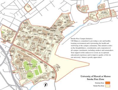 Smoke-Free Areas / Map | Healthy UHM: Smoke-Free Campus | UH Manoa