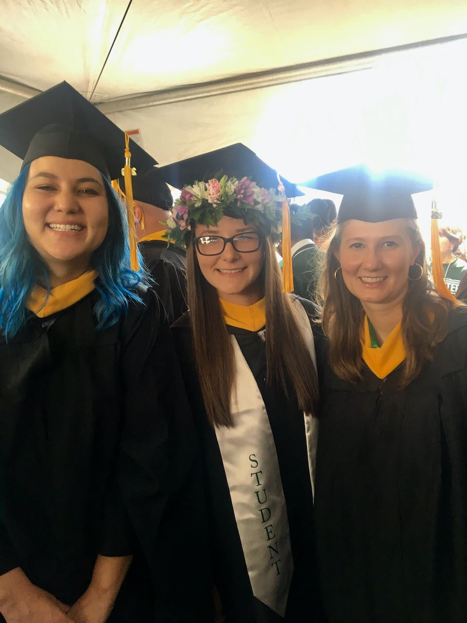 Summer Tropical Medicine Graduates Michellei Fisher, Sharon Stone, and Chelsea Nichols