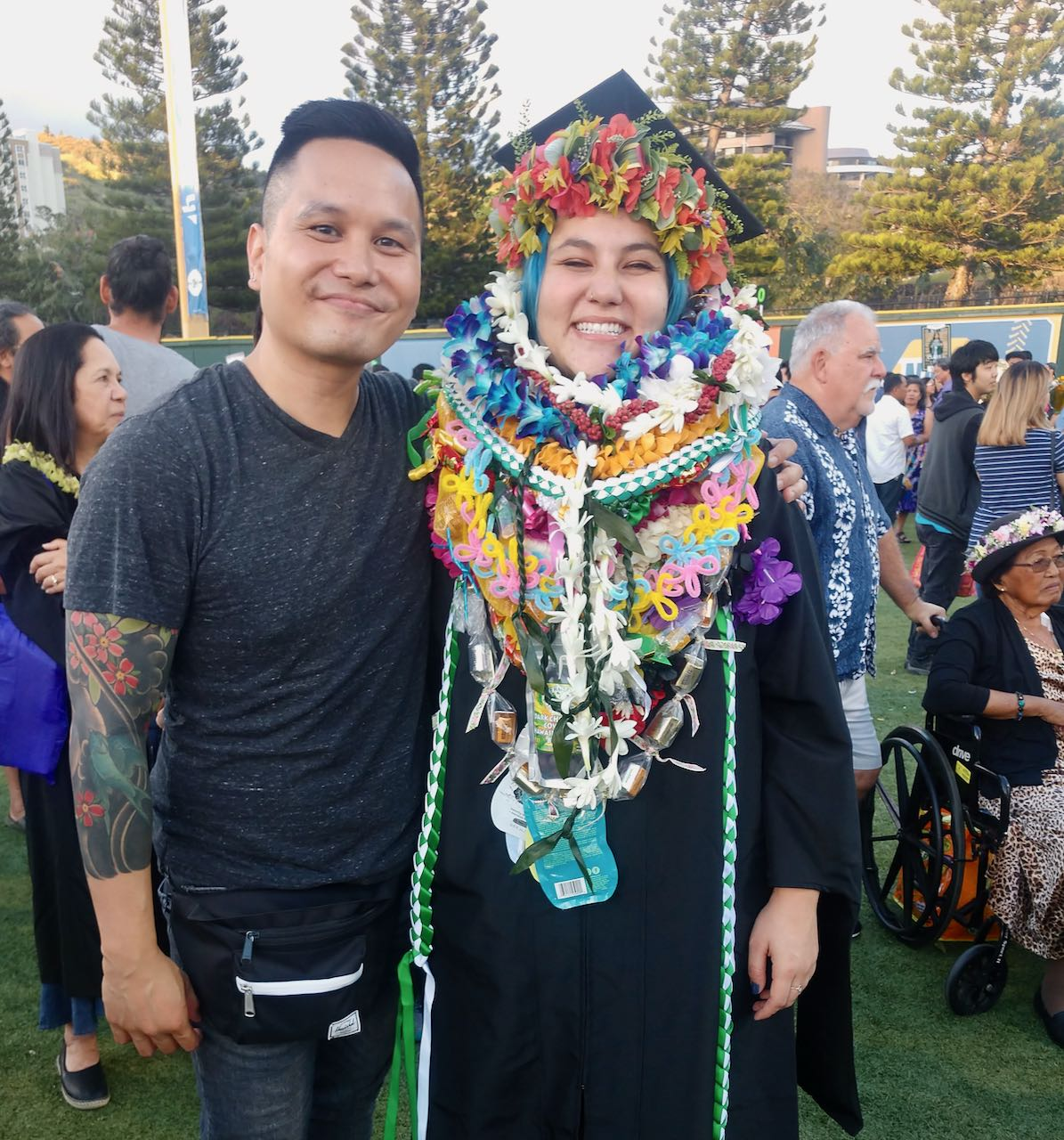 Nelson Lazaga and Michellei Fisher @ Summer Commencement 2019
