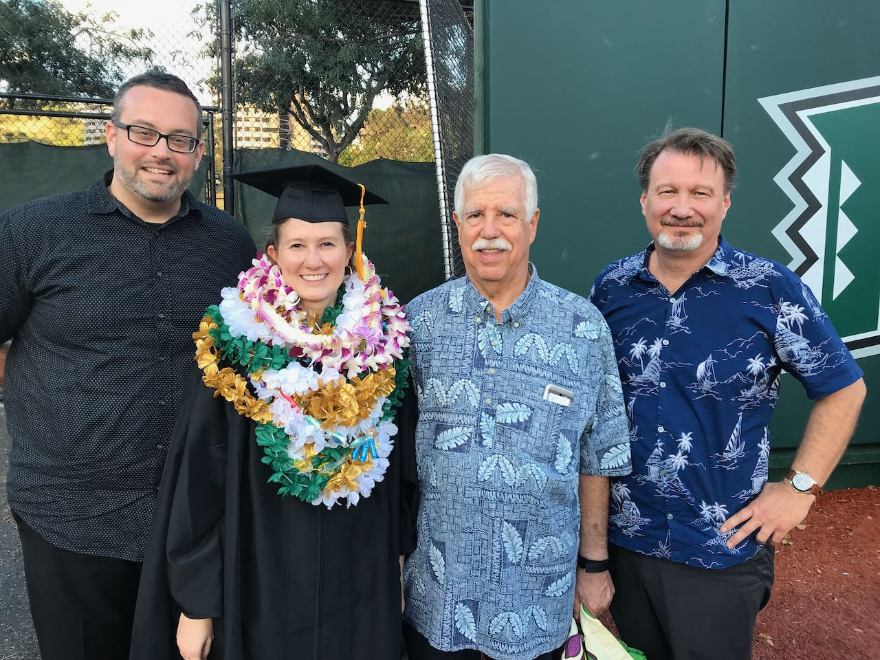 Chelsea Nichols with Dr. Kramer and her family @ Summer Commencement 2019