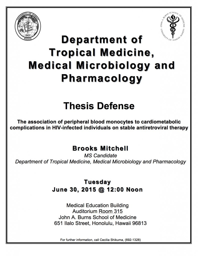 brooks mitchell ms thesis defense the association of peripheral brooks mitchell ms defense flyer