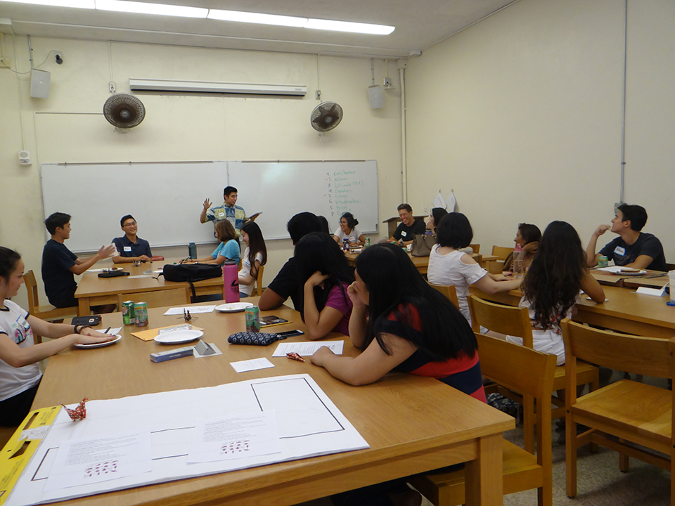 Photo of a group tutoring session