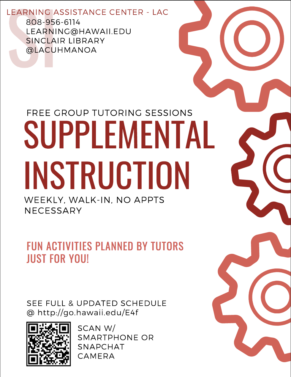 Supplemental Instruction Flyer