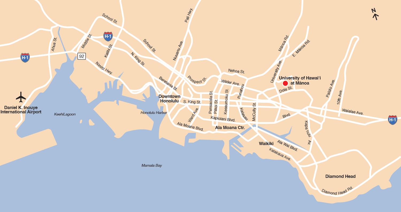 UH Mānoa is located in the heart of Honolulu