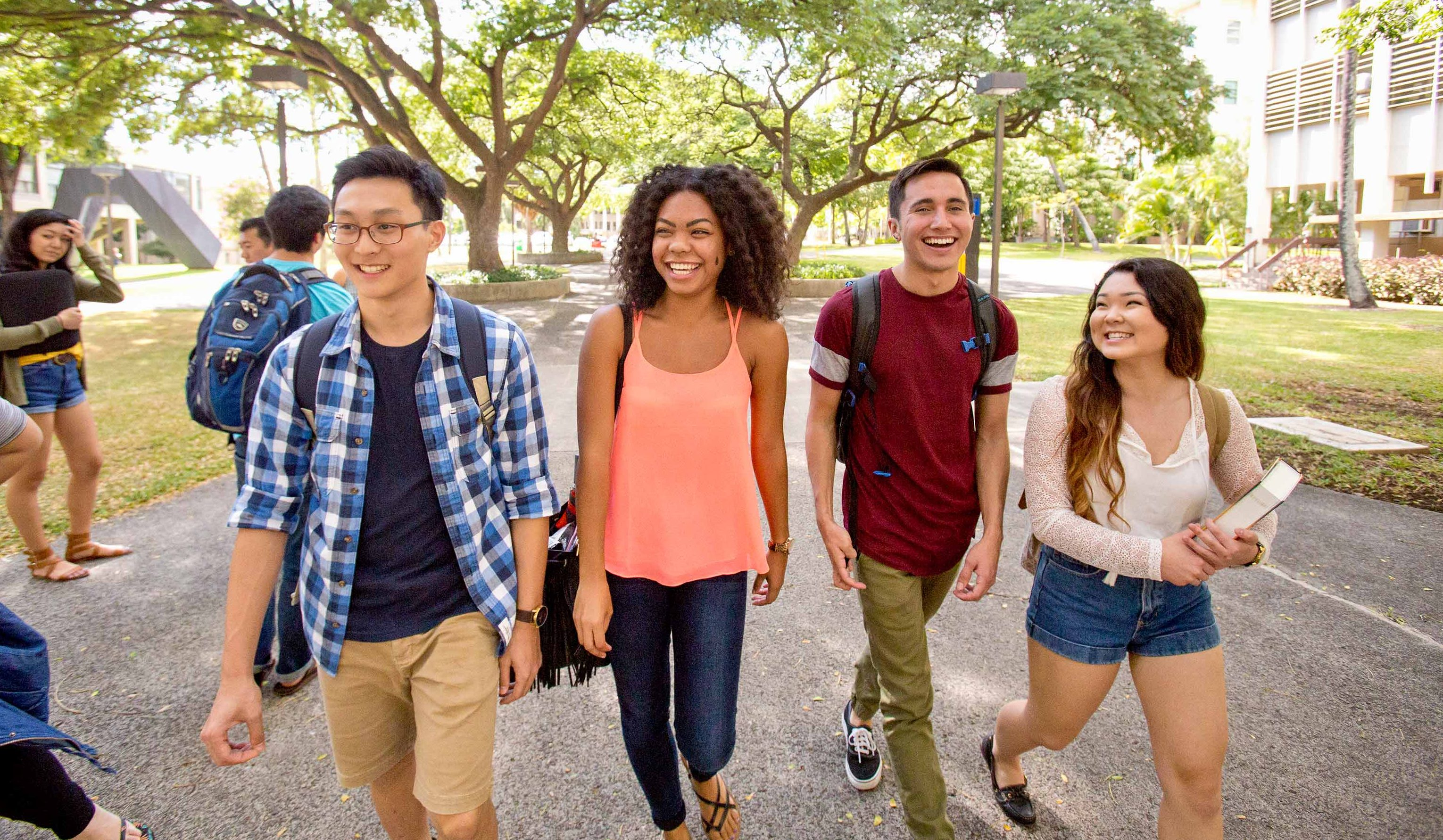 Students at UH Mānoa come from all 50 states