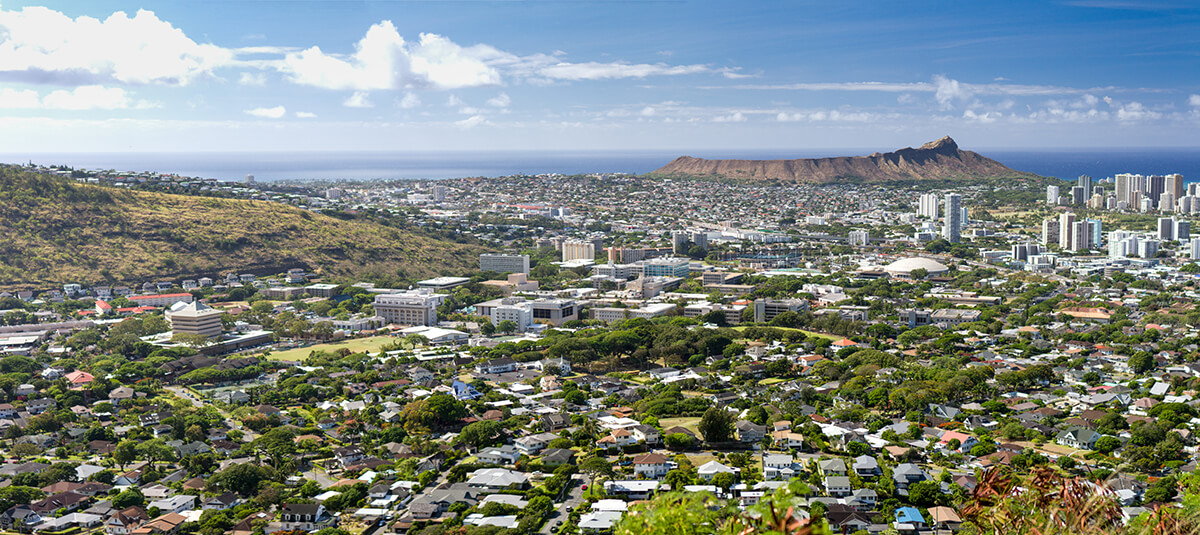 The UH Mānoa campus is nested in scenic Mānoa Valley, close to Waikiki and Diamond Head