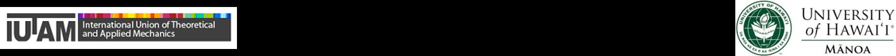 UH Manoa and IUTAM logos