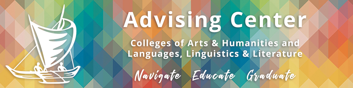 Advising Center for the Colleges of Arts & Humanities and Languages, Linguistics & Literature Logo