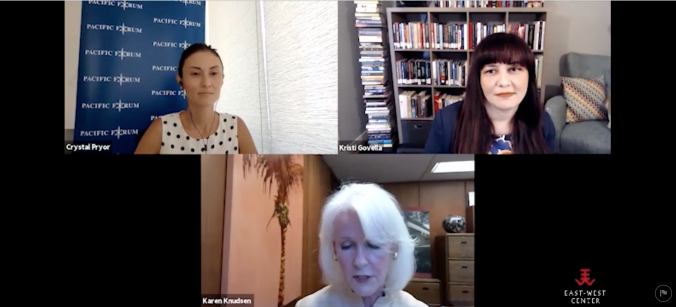 Picture of Govella and others in webinar