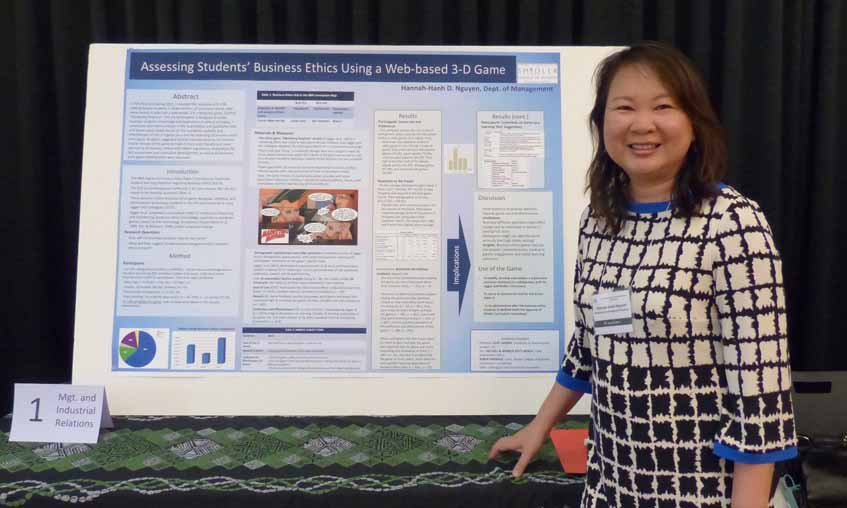 """In Fall 2014 and Spring 2015, I surveyed the reactions of N = 58 undergraduate students in three sections of a business course, who were invited to pilot-test a web-based, 3-D, interactive game. Entitled """"Marketing Mayhem,"""" this UK-based game is designed to assess business students' knowledge and application of ethical principles. I conducted descriptive analysis of the quantitative and qualitative data and found some mixed results on the suitability, usability and effectiveness of this 3-D game (as a tool for assessing of business ethics principles). Students suggested several improvements to the content and/or format of the game to make it more user-friendly and more tailored to US business ethics and related regulations. Implications for SLO assessment and curriculum development, as well as for business ethic game development were discussed."""