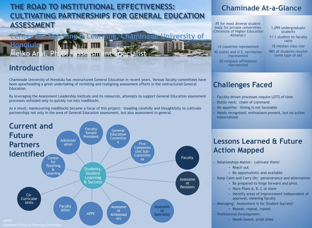 The Road to Institutional Effectiveness: Cultivating Partnerships for General Education Assessment