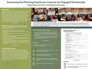 Assessing the Planning Practicum: Lessons for Engaged Scholarship