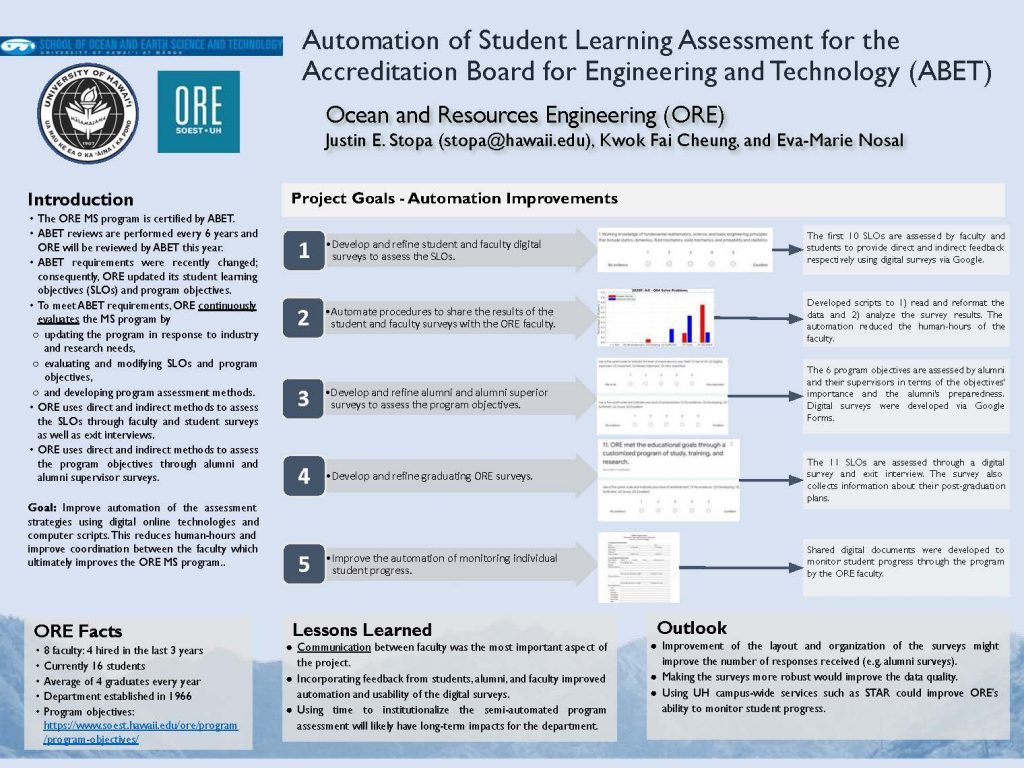 Automation of Student Learning Assessment for the Accreditation Board for Engineering and Technology (ABET)