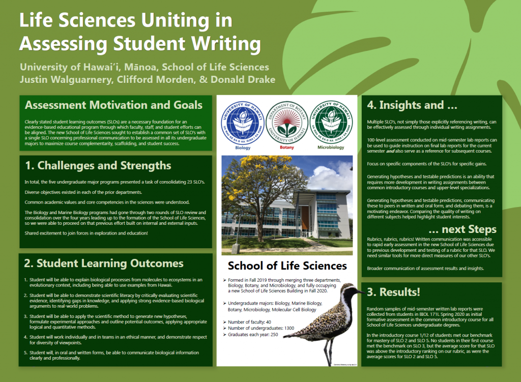 Life Sciences Uniting in Assessing Student Writing