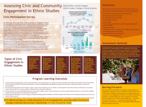 Assessing Civic and Community Engagement in Ethnic Studies