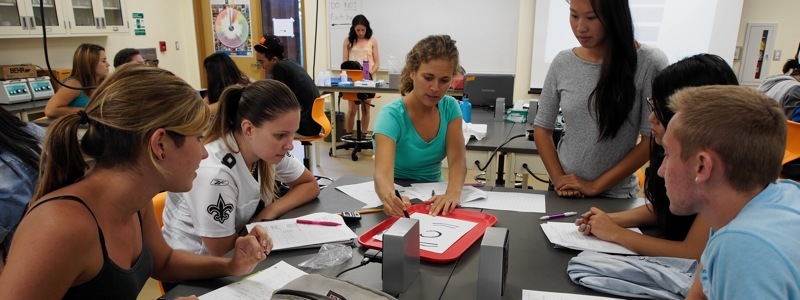 Students working together in the laboratory