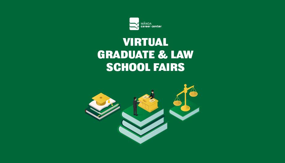 Students talk to graduate advisors at the Mānoa Career Center Graduate & Law Schools fair