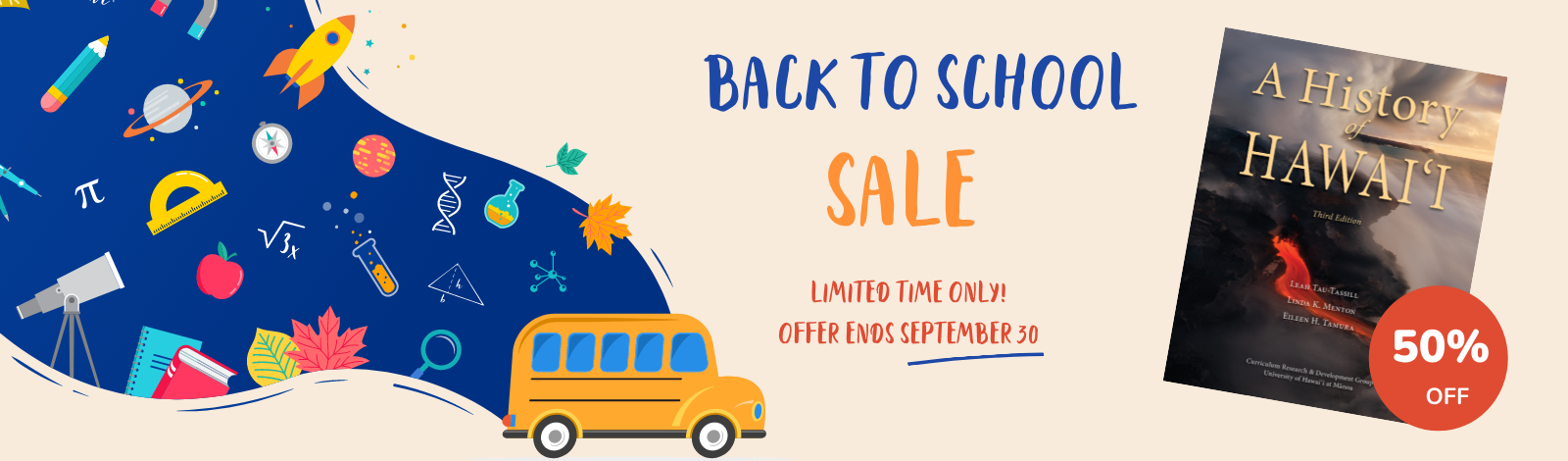 back to school sale graphic