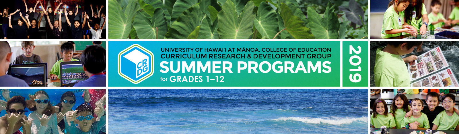 summer programs header graphic collage