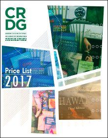 CRDG Price List 2017 Cover (Graphic)