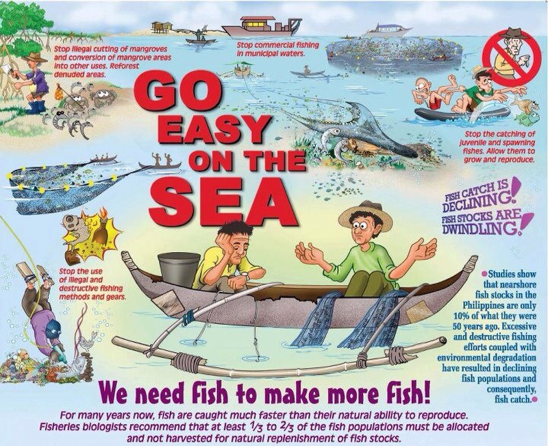 go easy on the sea illustration