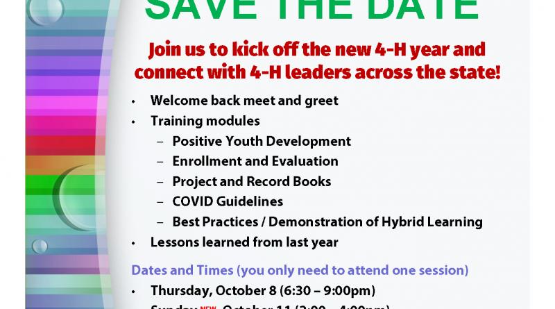 Flyer for Leader Trainings