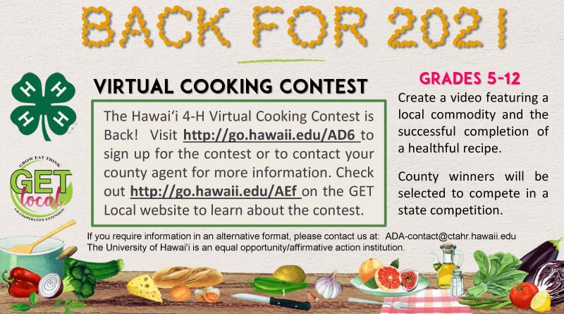 Cooking Contest Flyer for 2021