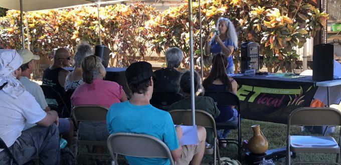 2019 Molokai Taro Field Day Speaker and Audience