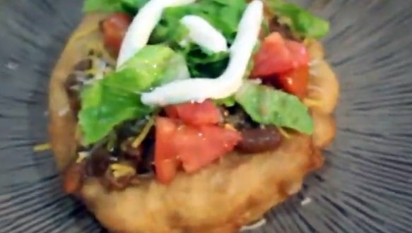 Indian Fry Bread Completed Dish PHoto