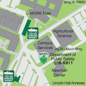 Map of Department of Public Safety at the Campus Services building