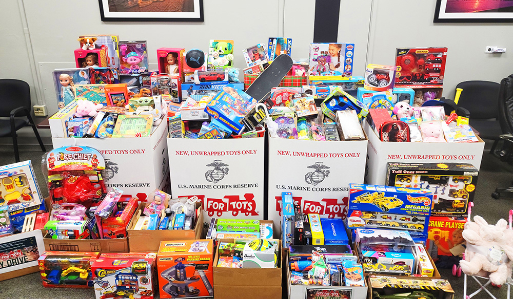Hundreds of toys were donated during the 2020 holiday collection period
