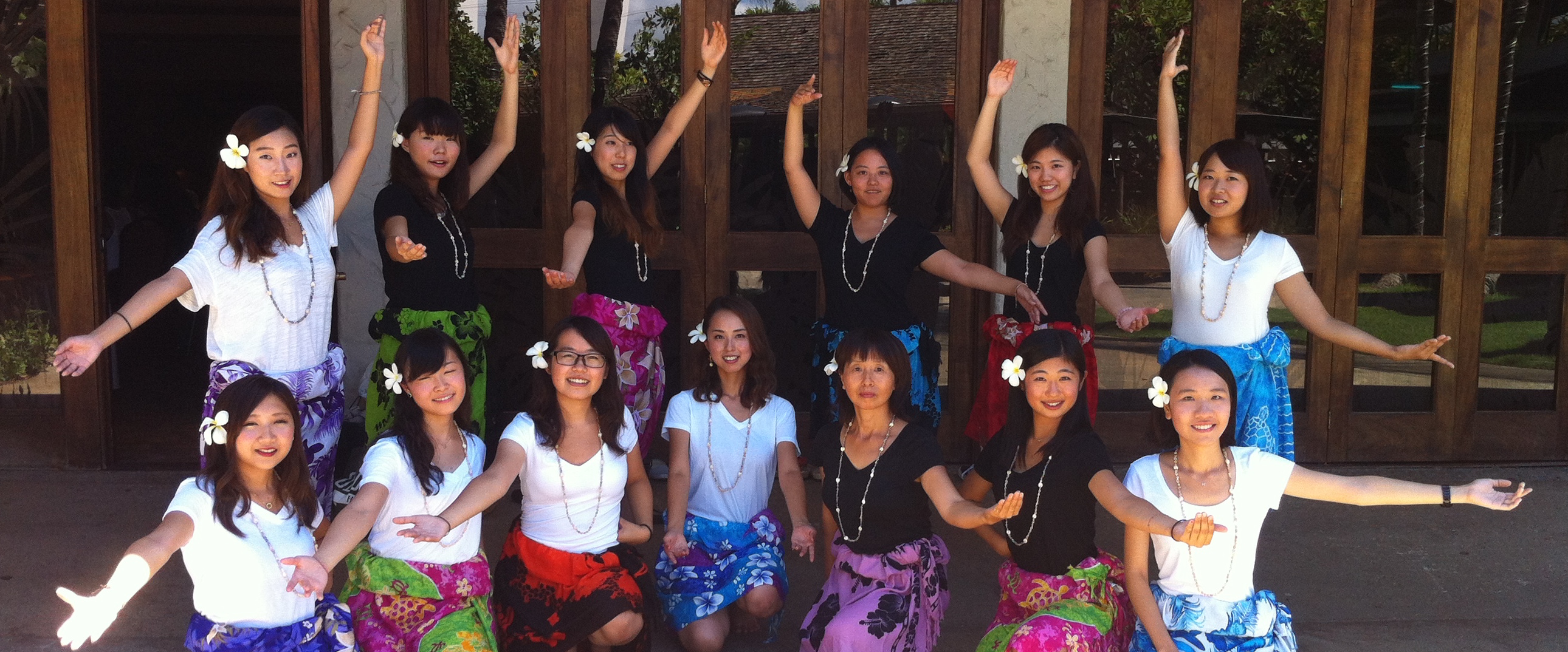 HELP students in hula class