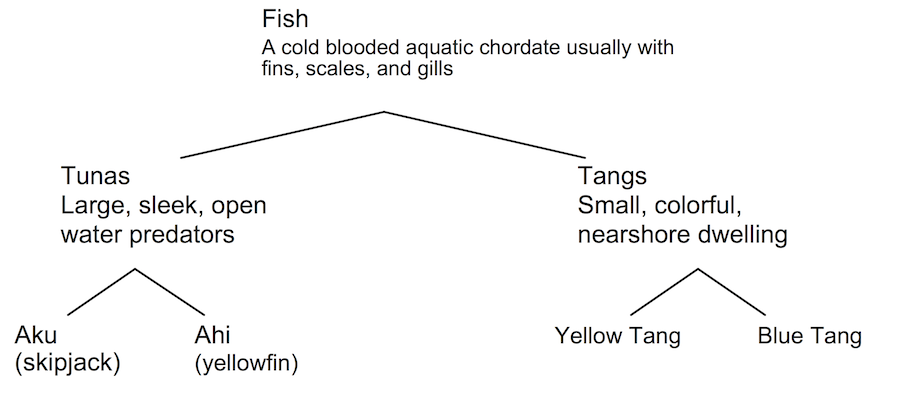 <p><strong>Fig. 1.12.</strong> Example classification scheme for fish</p>
