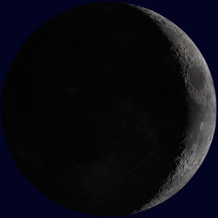 <p><strong>SF Fig. 6.10.</strong> (<strong>A</strong>) Waxing crescent moon</p>