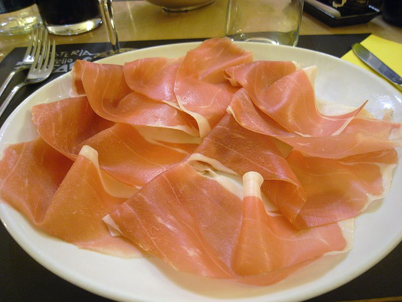 <p><strong>SF Fig. 2.17.</strong>&nbsp;Example (<strong>A</strong>)&nbsp;of salt-preserved foods: Italian <em>prosciutto</em> ham</p>