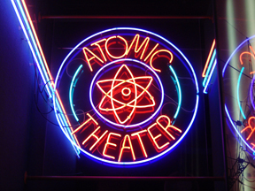<p><strong>Fig. 2.17.</strong> Sign for the American Museum of Science and Energy's Atomic Theater</p><br />