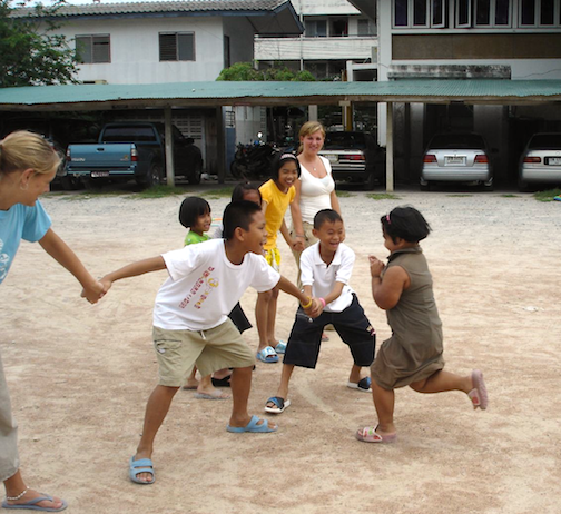 <p><strong>Fig. 3-12:</strong> Picture of red rover game.</p>