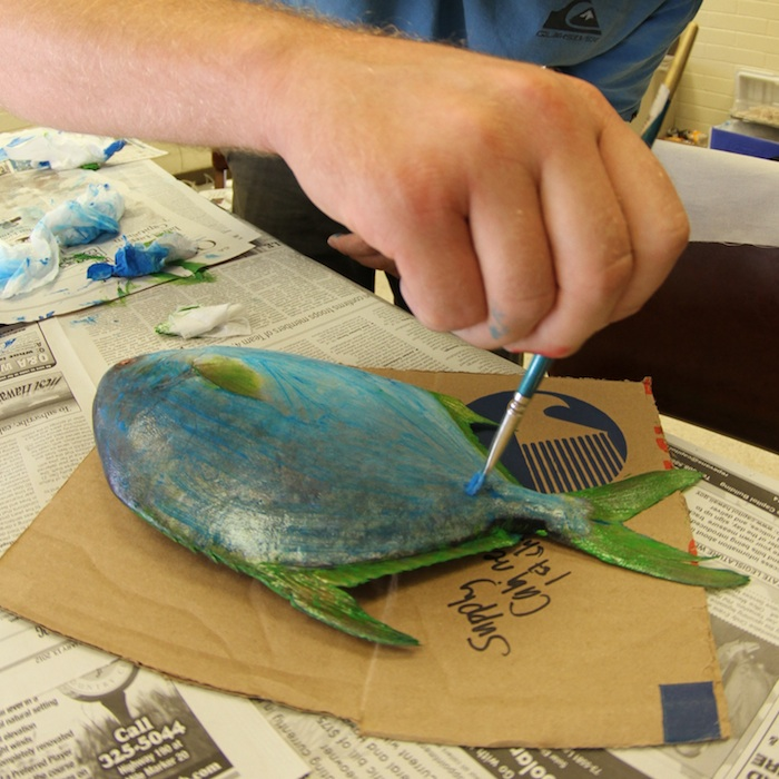 <p><strong>Fig. 4.20.</strong> (<strong>A</strong>) painting the fish</p>