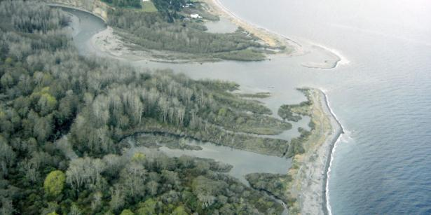 <p><strong>Fig. 2.23.</strong> The Elwha River estuary in the US state of Washington</p><br />