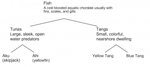 <p><strong>Fig. 1.12.</strong> Example classification scheme for fish</p><br />