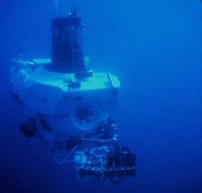 <p><strong>Fig. 9.30.</strong> (<strong>A</strong>) <em>Alvin</em> was the first manned submersible and remains in operation today.</p><br />