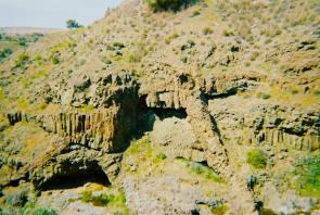 <p><strong>Fig. 7.55.</strong> An ophiolite rock complex is located on the island of Cyprus. Ophiolites are areas where oceanic crust has been thrust above the continental crust.</p><br />
