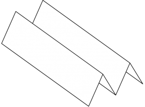 <p><strong>Fig. 7.62.</strong> Diagram of folded paper channel for sediment cores</p>
