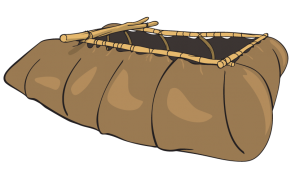 <p><strong>Fig. 8.53.</strong> This primitive animal-hide boat with skin stretched over wooden ribs (Tibetan design) was among the first type of boat used by humans.</p>